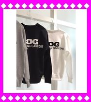 COMME des GARCONS Unisex Long Sleeves Cotton Sweatshirts
