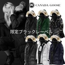 CANADA GOOSE SHELBURNE Camouflage Fur Plain Medium Down Jackets