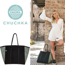 Chuchka Other Check Patterns Casual Style Totes