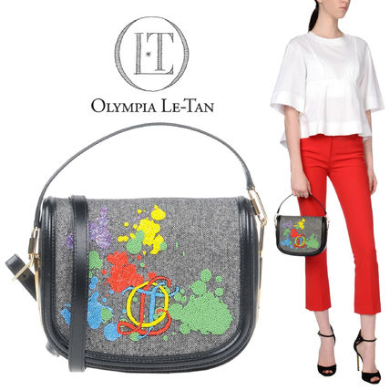 Olympia Le Tan Leather Party Style With Jewels Handbags