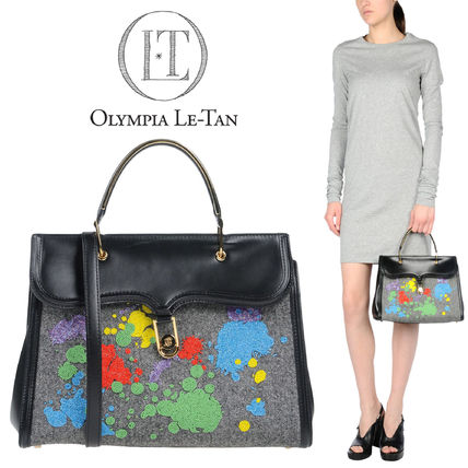 Olympia Le Tan Leather With Jewels Elegant Style Handbags