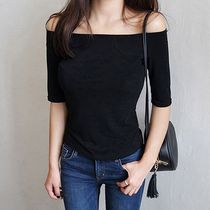 Casual Style Street Style Boat Neck Plain Cotton Medium