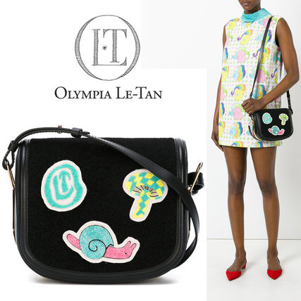 Olympia Le Tan Casual Style Calfskin Plain With Jewels Shoulder Bags