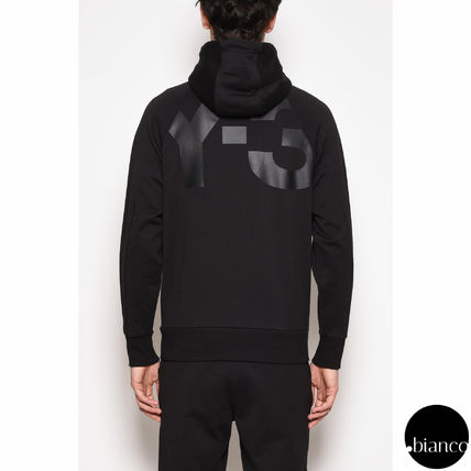 Y-3 Pullovers Henry Neck Street Style Long Sleeves Plain Cotton