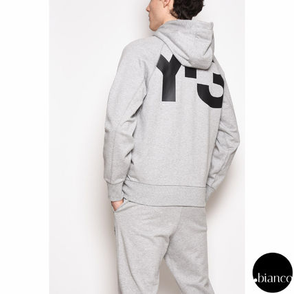 Y-3 Pullovers Street Style Bi-color Long Sleeves Plain Cotton