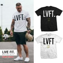 Live Fit Crew Neck Plain Cotton Short Sleeves Tanks