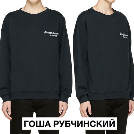 Gosha Rubchinskiy Crew Neck Pullovers Long Sleeves Cotton Oversized