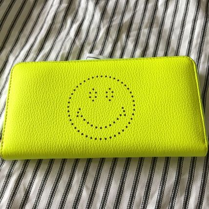 Ahnya LargeZipWallet HAPPY yellow