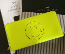 Anya Hindmarch Ahnya LargeZipWallet HAPPY yellow