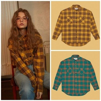 Other Check Patterns Unisex Long Sleeves Cotton