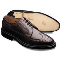 Allen Edmonds Wing Tip Street Style Plain Leather Handmade Oxfords