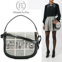 Olympia Le Tan Calfskin Blended Fabrics Party Style Shoulder Bags