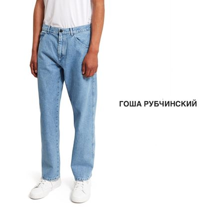 Gosha Rubchinskiy Paisley Collaboration Plain Cotton Jeans & Denim