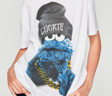 Cookie Monster damage hole perforated TRF T shirt