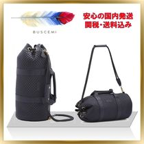 BUSCEMI Casual Style Unisex 2WAY Plain Leather Backpacks