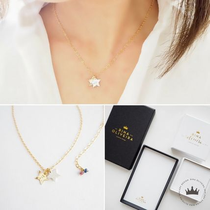 Star Casual Style 14K Gold Necklaces & Pendants