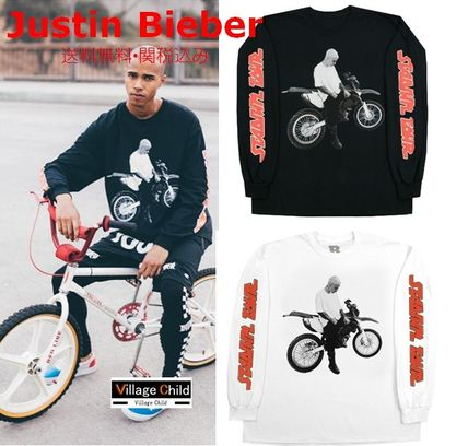 Crew Neck Street Style Long Sleeves Long Sleeve T-Shirts
