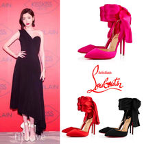 Christian Louboutin Plain Elegant Style High Heel Pumps & Mules