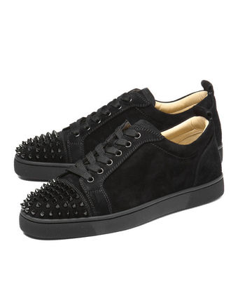 Suede Studded Plain Sneakers