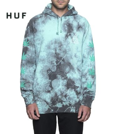 HUF Hoodies Sweat Street Style Tie-dye Long Sleeves Hoodies