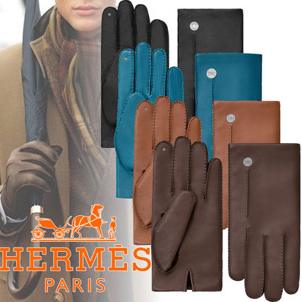 Nervure ring lace lambskin gloves