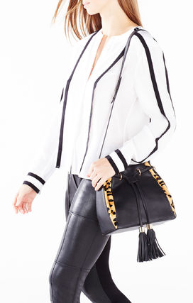 Leopard Patterns Casual Style Plain Leather Fringes