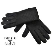 EMPORIO ARMANI Monoglam Blended Fabrics Plain Leather