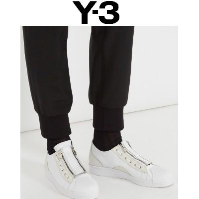 Super Zip leather sneakers white