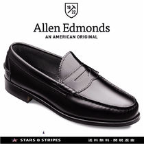 Allen Edmonds Loafers Street Style Plain Leather U Tips Handmade