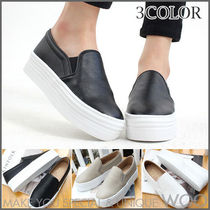 Platform Round Toe Casual Style Faux Fur Street Style Plain