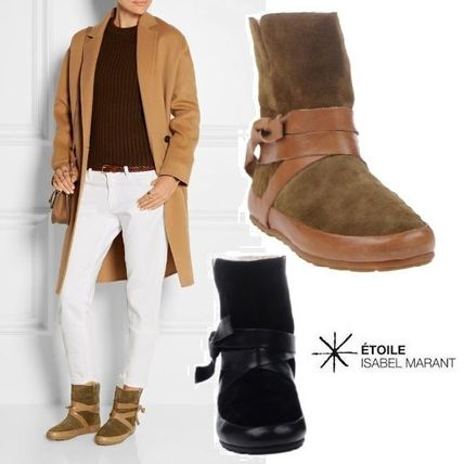 Etoile leather and sharing ankle boots