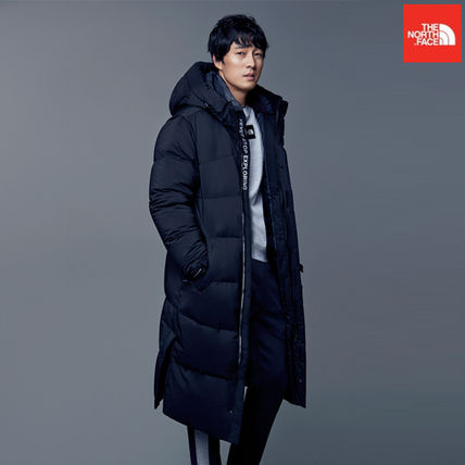 THE NORTH FACE Nuptse Argile Wool Plain Long Street Style Chester Coats