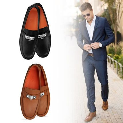 hermes loafers plain leather loafers slip ons by harper buyma