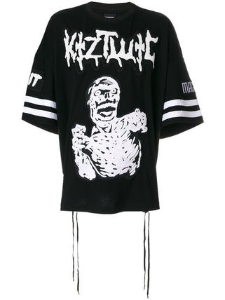 Catty set Zombie embroidered applique t-shirt