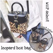 Leopard Patterns Casual Style 2WAY Shoulder Bags