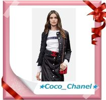 CHANEL ICON Unisex Street Style Cotton Short Sleeves Logo T-Shirts