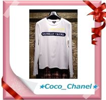 CHANEL ICON Unisex Long Sleeves Cotton Long Sleeve T-shirt