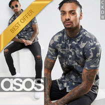 ASOS Camouflage Street Style Short Sleeves Shirts