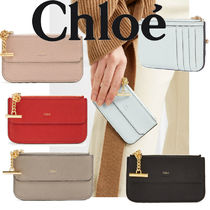 Chloe Drew Plain Leather Coin Purses