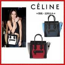 CELINE Luggage Plain Leather Totes