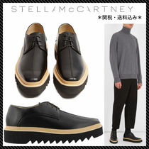 Stella McCartney Plain Toe Faux Fur Plain Oxfords