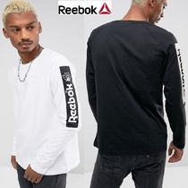 Reebok Crew Neck Street Style Long Sleeves Cotton