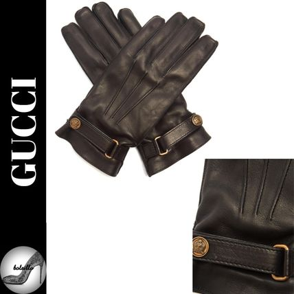 17 AW Angry Cat leather gloves