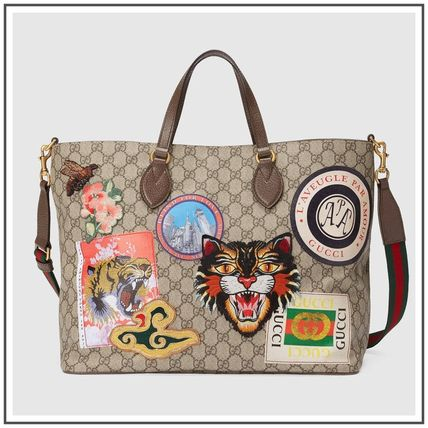 Courrier Soft GG Supreme Tote With Embroidery & Applique