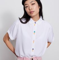 LAZY OAF Tropical Patterns Street Style Medium Short Sleeves