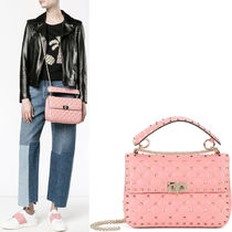 VALENTINO 17-18 AW V860 ROCKSTUD SPIKE MEDIUM CHAIN ​​BAG