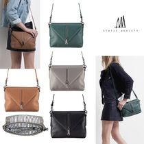 STATUS ANXIETY Casual Style Street Style 2WAY Plain Leather Shoulder Bags