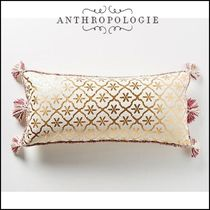 Anthropologie Tassel Pillowcases Damask Decorative Pillows