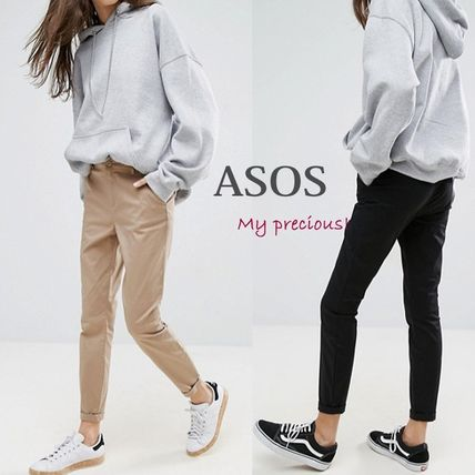 ASOS Casual Style Street Style Plain Cotton Long Skinny Pants