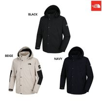 THE NORTH FACE Nuptse Argile Wool Street Style Plain Long Windbreaker Down Jackets